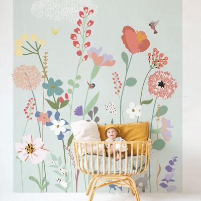 MIMIlou Wandbild Fleurs de Champs