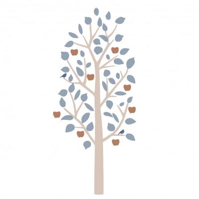 MIMIlou Wandsticker, kleiner Apfelbaum - Blau