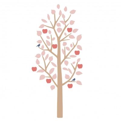 MIMIlou Wandsticker, kleiner Apfelbaum - Rose