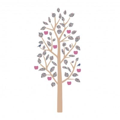 MIMIlou Wandsticker, kleiner Apfelbaum - Liberty
