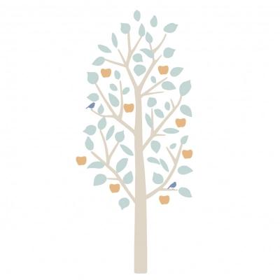 MIMIlou Wandsticker, kleiner Apfelbaum - Mint