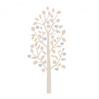 MIMIlou Wandsticker, kleiner Apfelbaum - Hellrosa