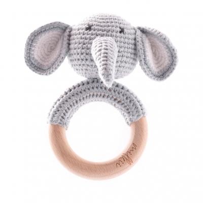 Milkii Beissring mit Häkeltierchen, Elefant