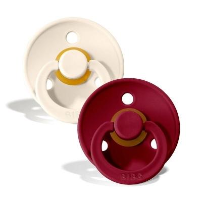 BIBS Colour Latex Schnuller (Grösse 1, 0-6 Monate), Ivory & Ruby