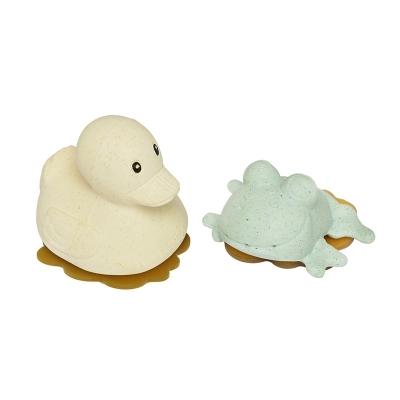 Hevea Badespielzeug Set Ente + Frosch, Sand + Sage