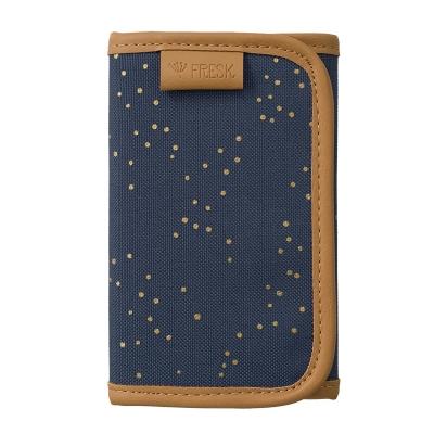 Fresk Brieftasche, Indigo Dots