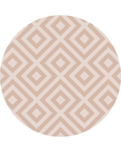 eeveve Bodenmatte Schutzmatte, rund 110cm, Modern Blocks Wüstensand