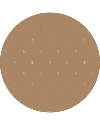eeveve Bodenmatte Schutzmatte, rund 110cm, Gepunktet Herbstgold