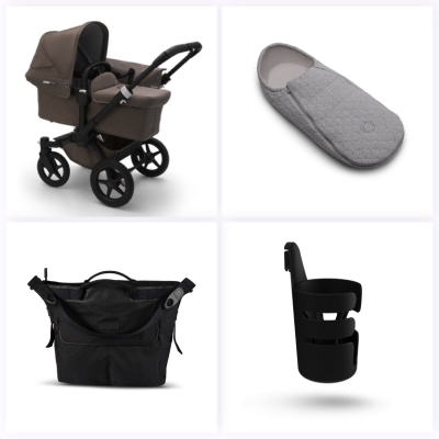 Bugaboo Donkey 3 Mono #3KHSet 6in1, Mineral Schwarz/ Taupe