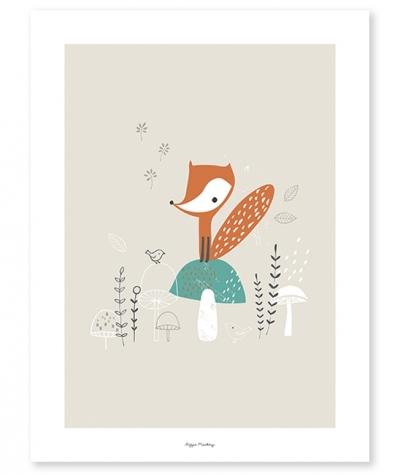 Lilipinso Poster, Fuchs aufdem Pilz