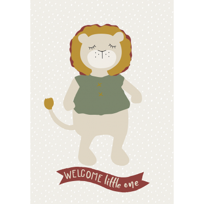 Kikadu Geburtstagskarte Löwe