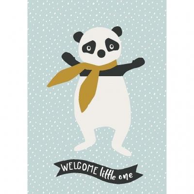 Kikadu Geburtstagskarte Panda