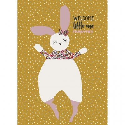 Kikadu Geburtstagskarte Hase Millefleurs