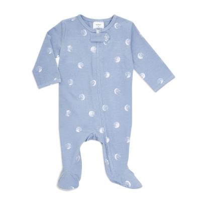 aden + anais Babypyjama mit Füsschen, blue miin