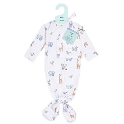 Aden Anais Baby Schlafsack + Mütze, 0-3 M - Jungle Jammin