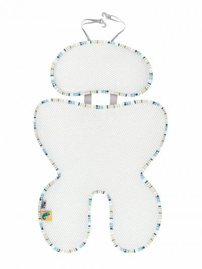 Leokid 3D Sommer-Sitzeinlage für Kindersitze und Kindewagen, Little Shell