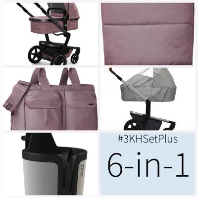 JOOLZ Day+ Kinderwagen #3KHSet 6in1, Premium Pink