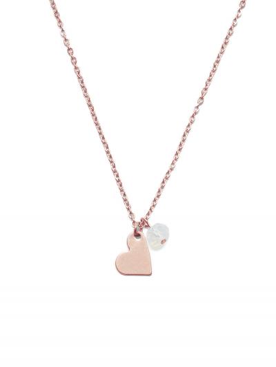 Proud MaMa Steel Collection Halskette - Herz Rosé
