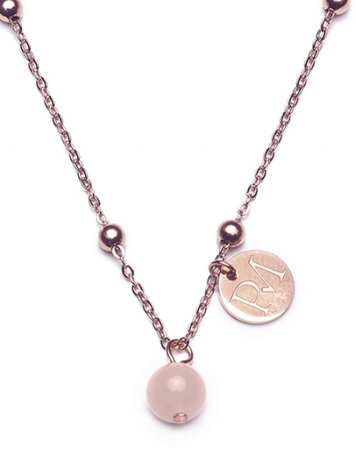 Proud MaMa MAM Collection Halskette - Rosenquarz