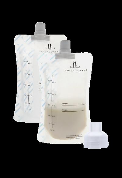 Lola & Lykke Aufbewahrungsbeutel für Muttermilch, 10er Pack