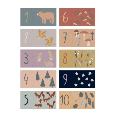 Sebra Puzzle mit Zahlen, Nightfall