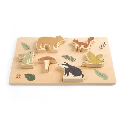 Sebra kräftiges Puzzle aus Holz, Nightfall