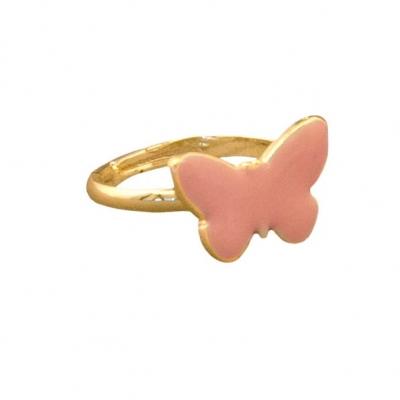 Global Affair Ring, Schmetterling/ rosa