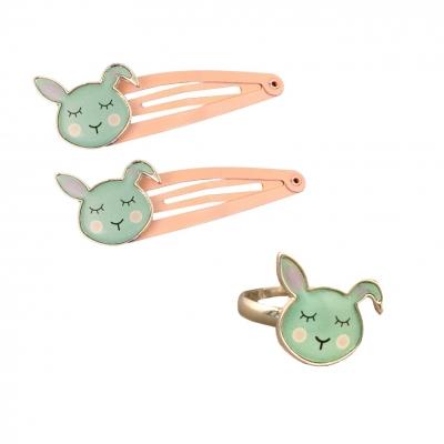 Global Affair Ring + Haarclips, Bunny