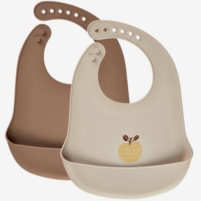 Celavi Silikon Esslätzchen 2er Pack, Apfel
