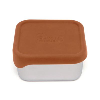 Petit Monkey Edelstahl Lunch Box mit Silikon Deckel, Mae Baked Clay