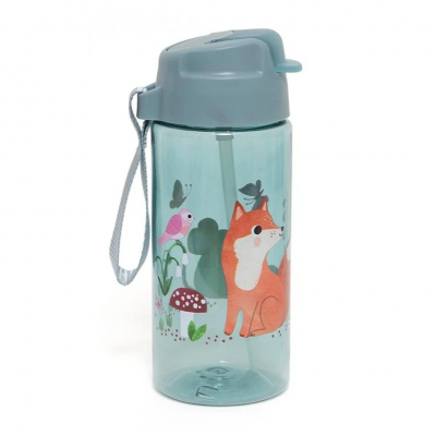 Petit Monkey Strohhalm-Flasche, Woodlands Stone Blue
