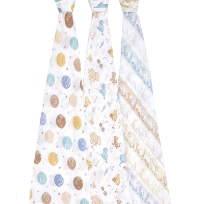 Aden + Anais Mulltuch Swaddles, 3er-Pack - Winnie in the woods