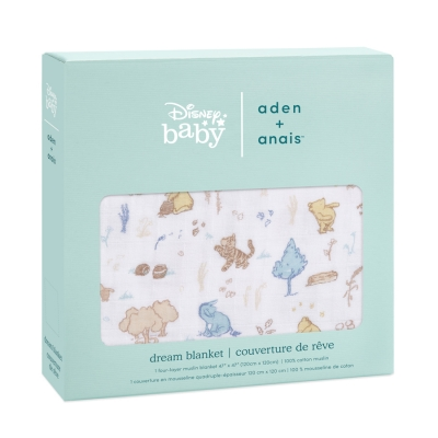 Aden + Anais Kuscheldecke Dream Blanket - Winnie in the woods
