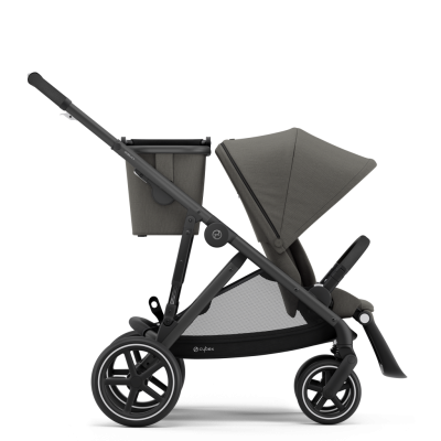 Cybex Gazelle S Kinderwagen mit schwarzem Gestell, Soho Grey
