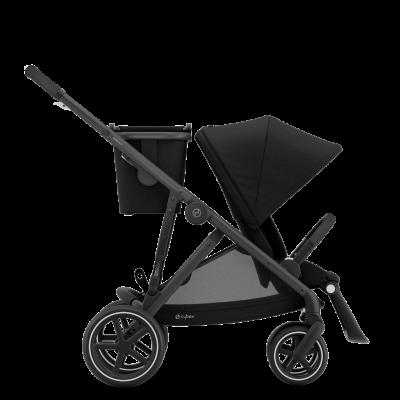 Cybex Gazelle S Kinderwagen mit schwarzem Gestell, Deep Black