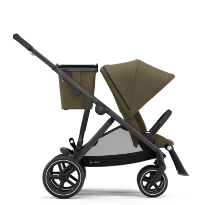 Cybex Gazelle S Kinderwagen mit schwarzem Gestell, Camel Beige