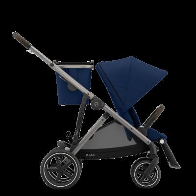 Cybex Gazelle S Kinderwagen mit taupe-farbigem Gestell, Navy Blue