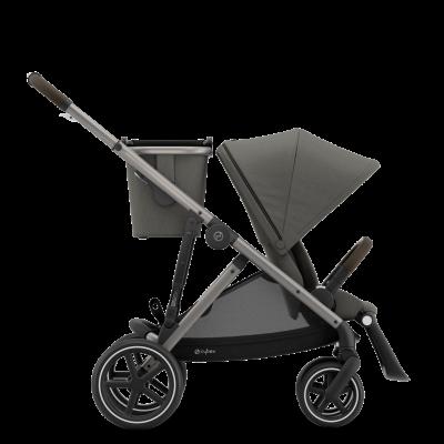 Cybex Gazelle S Kinderwagen mit taupe-farbigem Gestell, Soho Grey