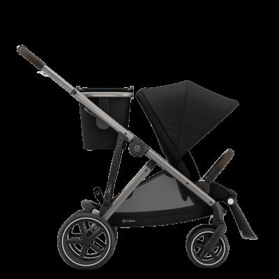 Cybex Gazelle S Kinderwagen mit taupe-farbigem Gestell, Deep Black