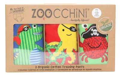 ZOOCCHINI Trainings-Unterhosen aus Bio-Baumwolle - Pirate Pals (2-3 Jahre)