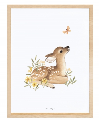 Lilipinso Poster mit Rahmen, Fawn