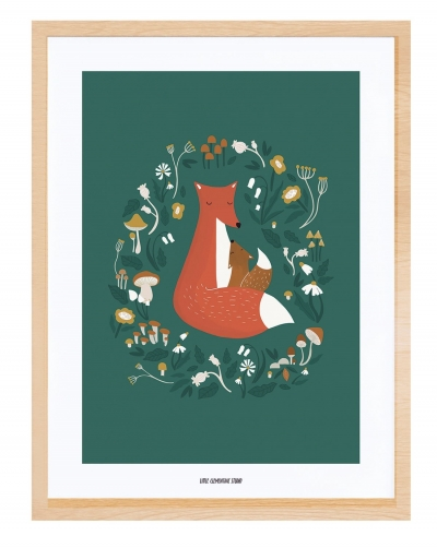 Lilipinso Poster mit Rahmen, Fox Family