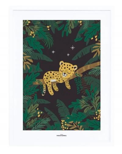 Lilipinso Poster mit Rahmen, SLEEPY LITTLE CHEETAH