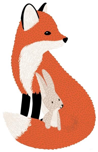 Lilipinso Wandsticker Dekoration, MR FOX & SEIN FREUND