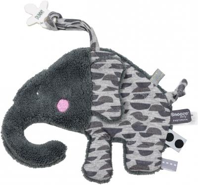 Snoozebaby Kuscheltuch Elly Elephant, Frost Grey