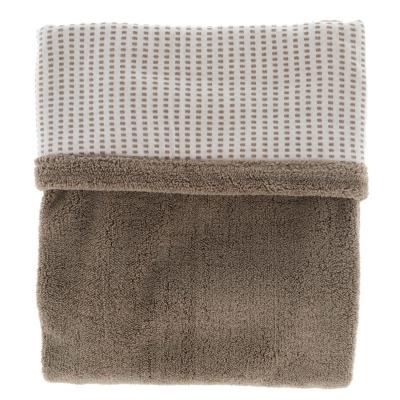 Snoozebaby zweischichtige Decke 100 x 150 cm, Warm Brown