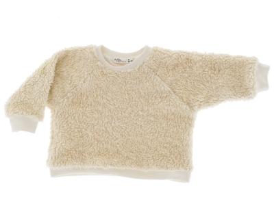 Riffle Amsterdam Sweater Mayra, Baumwoll-Pelz Off-White