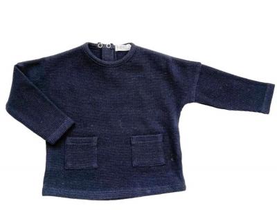 Riffle Amsterdam langarm Shirt, Nachtblau