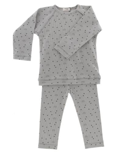 Snoozebaby Pyjama, Regenbogen/ grün
