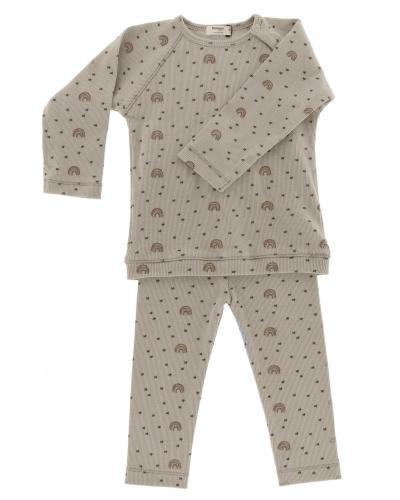 Snoozebaby Pyjama, Regenbogen/ rosa